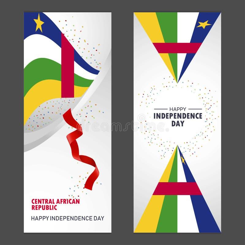 Van de de onafhankelijkheidsdag van de Centraalafrikaanse Republiek de Gelukkige Confettien Celebra stock illustratie