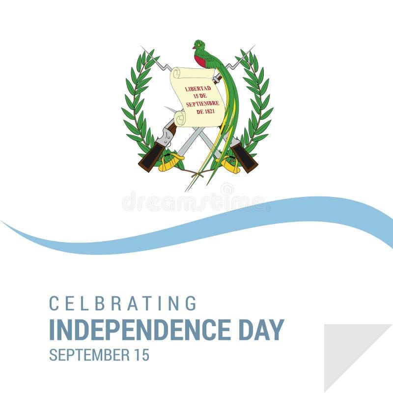 Van de de Onafhankelijkheidsdag van Guatemala het Patriottische Ontwerp royalty-vrije illustratie