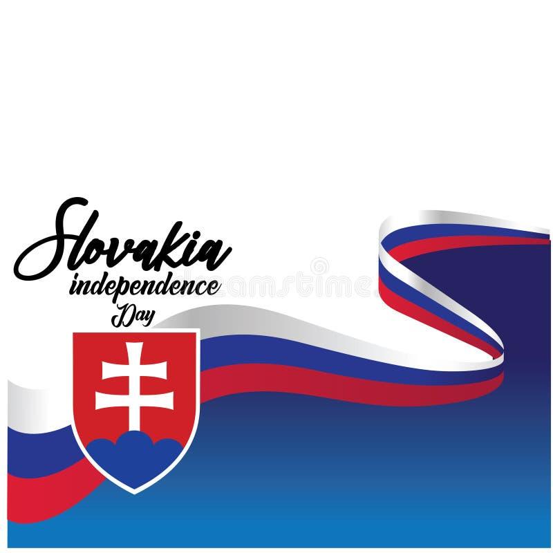 Van de de Onafhankelijkheidsdag van Slowakije Illustratie van het het Malplaatjeontwerp de Vector - Vector royalty-vrije illustratie