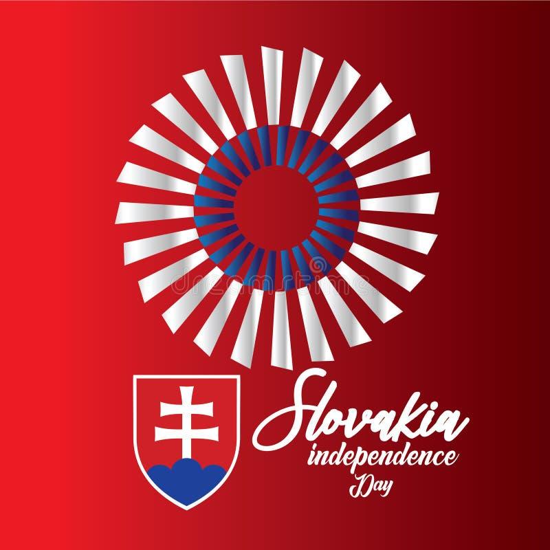 Van de de Onafhankelijkheidsdag van Slowakije Illustratie van het het Malplaatjeontwerp de Vector - Vector stock illustratie