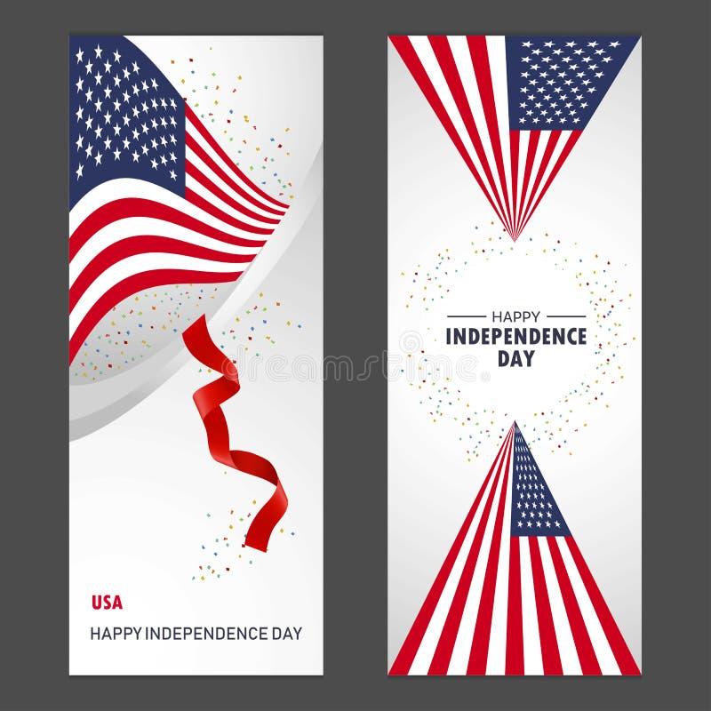 Van de de onafhankelijkheidsdag van de Verenigde Staten van Amerika de Gelukkige Confettien Celebra royalty-vrije illustratie