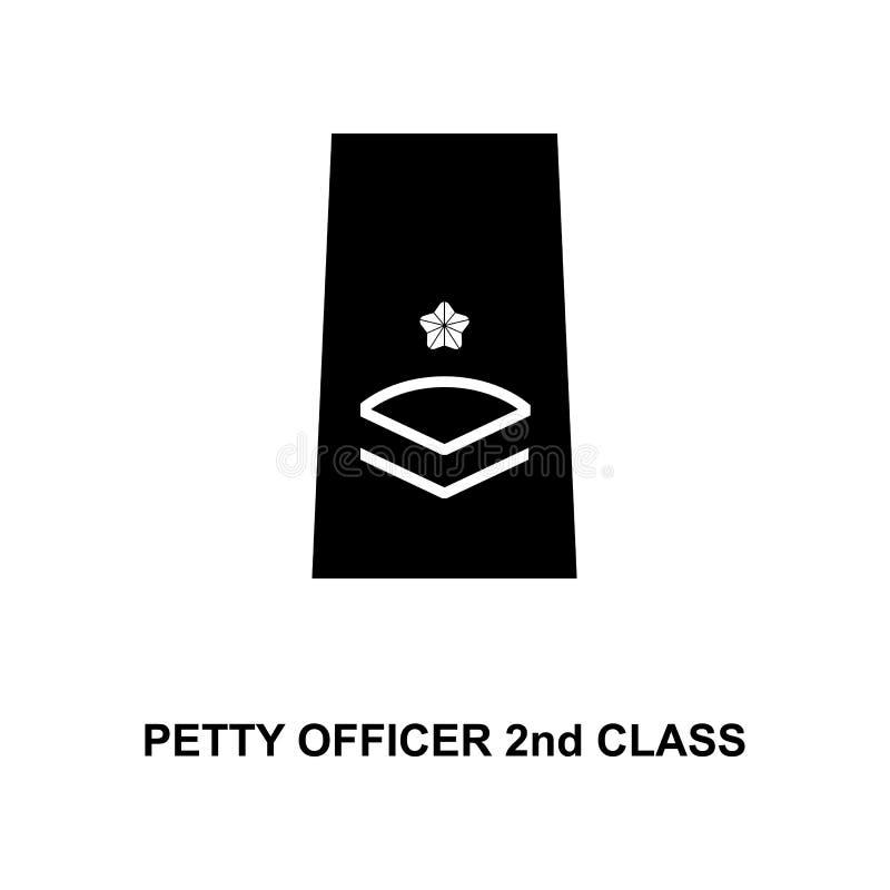 van de de onderofficier de 2de klasse van Japan militair rangen en insignes glyph pictogram vector illustratie