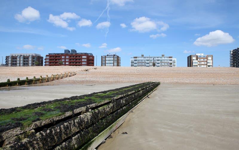 Van de Oost- kust Sussex huisvest water royalty-vrije stock foto's