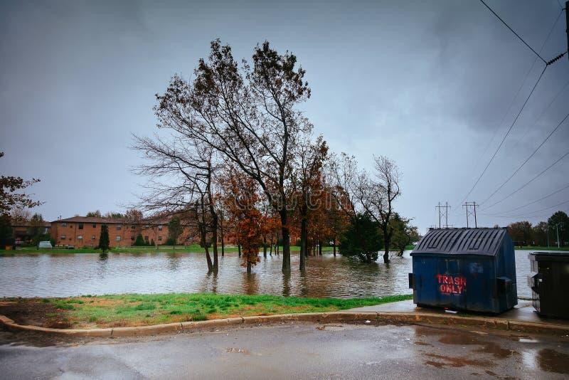 Van de orkaanvloed en wind schade royalty-vrije stock afbeelding