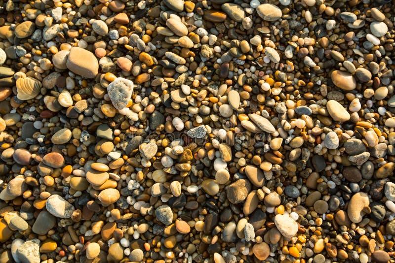Van de overzeese de stenentextuur strandkiezelsteen nave royalty-vrije stock fotografie