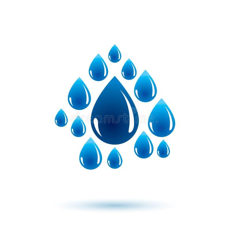 Van de overzeese de vector golfplons logotype De dagthema van het wereldwater Het leven I vector illustratie