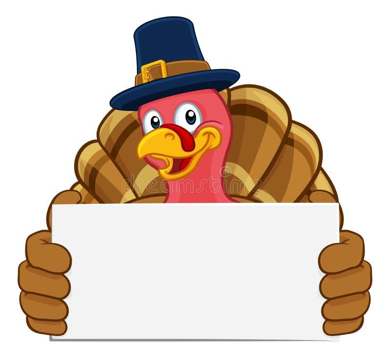 Van de de Pelgrimshoed van Turkije het Karakter van het de Dankzeggingsbeeldverhaal stock illustratie