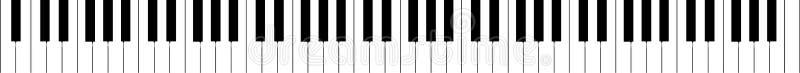 Van de piano het toetsenbord (echte uitbreiding) vector stock illustratie