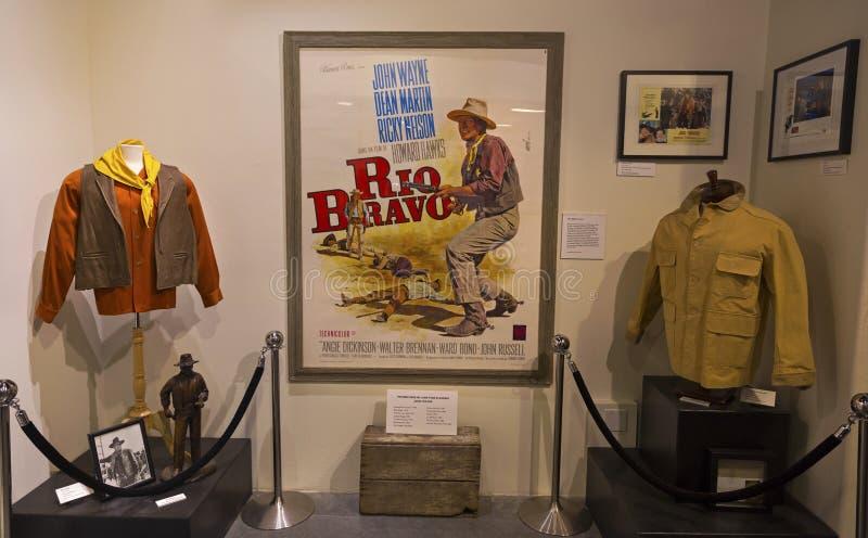 Van de de Pijnboomfilm van Rio Bravo John Wayne Exhibit Eenzaam de Geschiedenismuseum royalty-vrije stock afbeelding