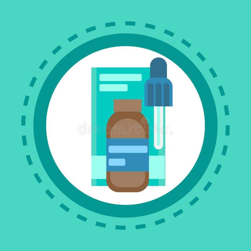 Van de de Pillen de Medische Gezondheidszorg van het apotheekpictogram van het de Kliniekenziekenhuis Drugs van de de Dienstgenee royalty-vrije illustratie
