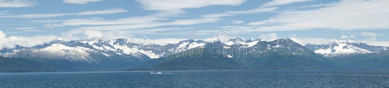 Van de prinswilliam van Alaska het correcte panorama royalty-vrije stock fotografie