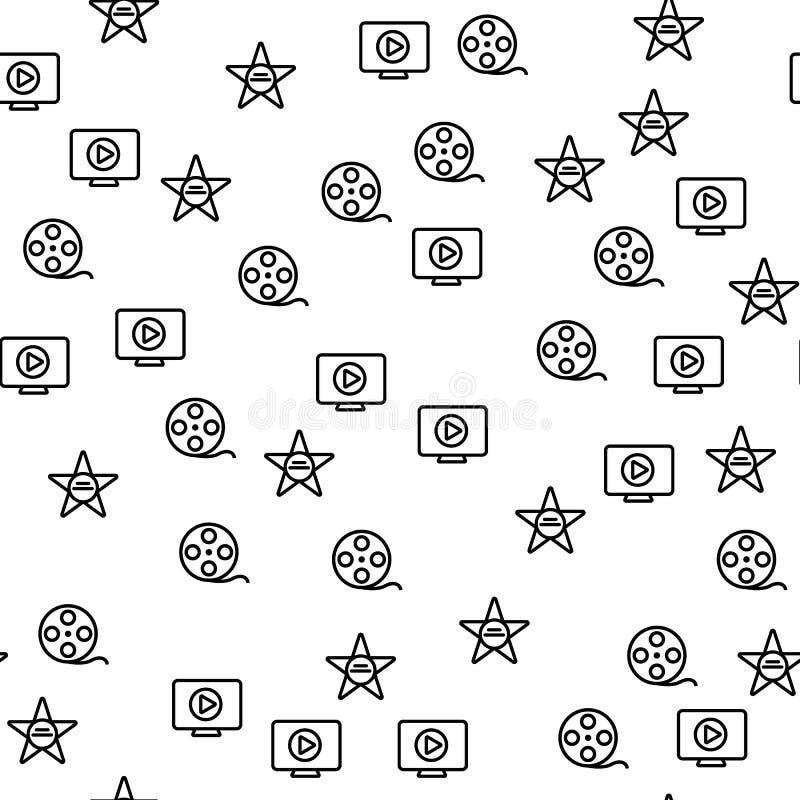 Van de de Productiester van de Hollywoodfilm het Naadloze Patroon vector illustratie