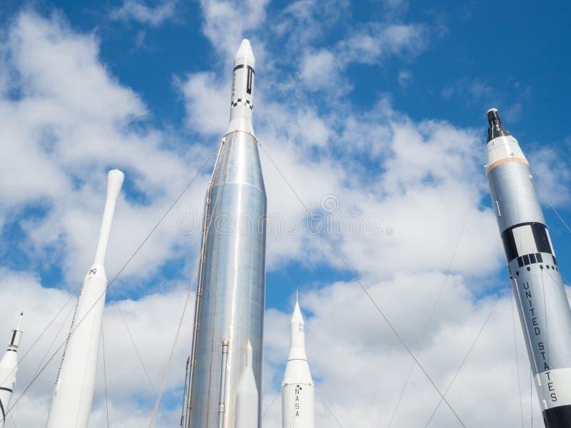 Van de Raket @ Kennedy van NASA het Ruimte ruimtecentrum royalty-vrije stock foto's
