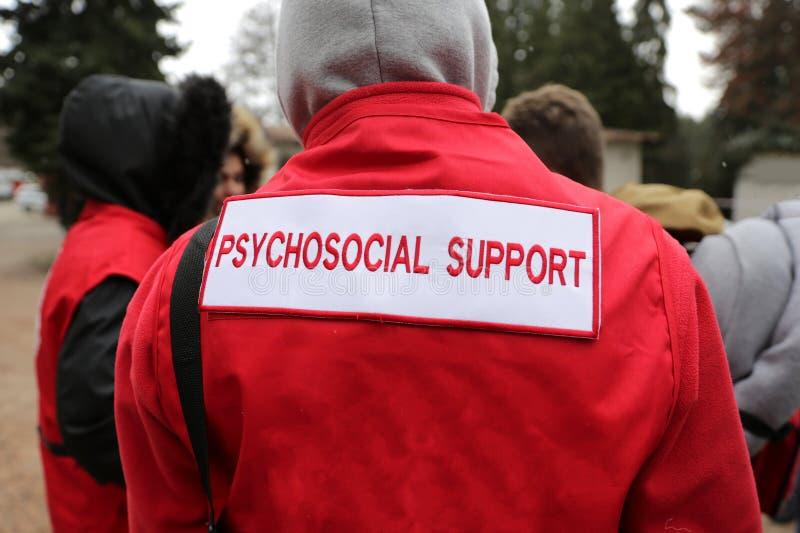 Van de de reddingsdienst van de paramediciberg de Psychosociale Steun royalty-vrije stock afbeelding