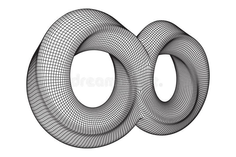 Van de de ringsoneindigheid van de Mobiusstrook de heilige meetkunde vector illustratie