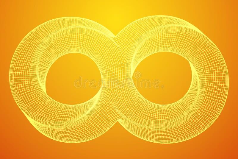 Van de de ringsoneindigheid van de Mobiusstrook de heilige meetkunde stock illustratie