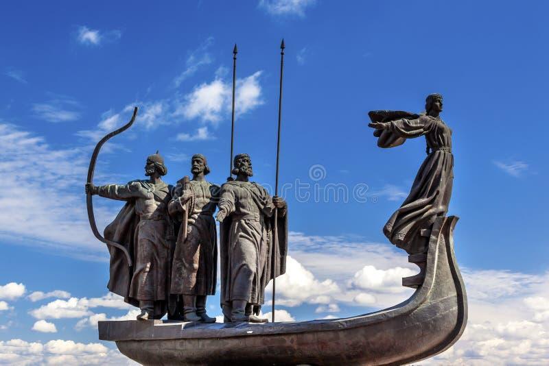 Van de Rivierkiev van Dniper van het stichtersmonument het Symbool de Oekraïne stock afbeelding