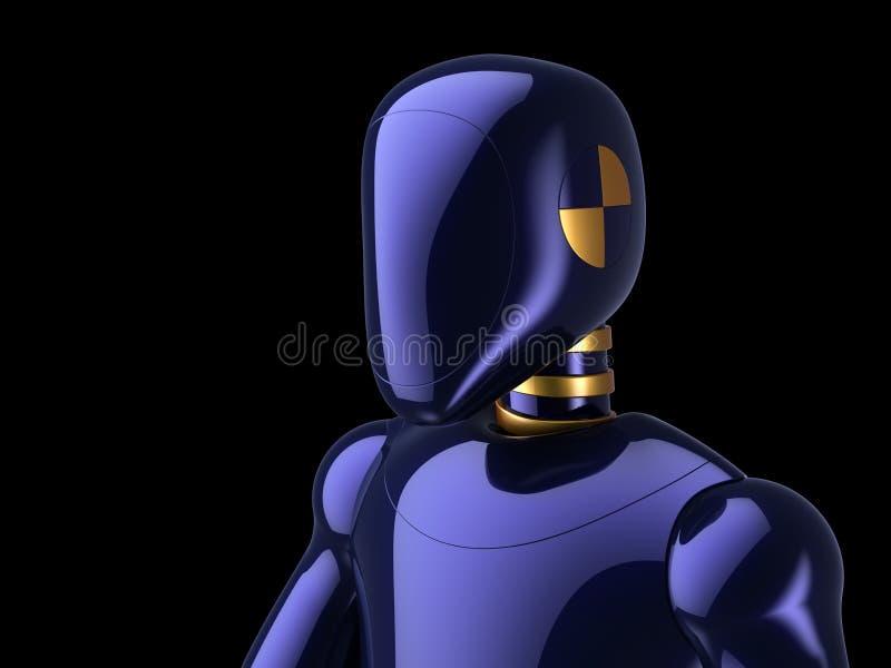 Van de de robot futuristische androïde verbrijzeling van het Cyborgportret de test proefzwarte vector illustratie