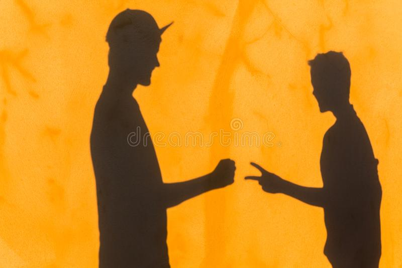 Van de de Rotsschaar van het tienersspel de Schaduwmuur royalty-vrije stock fotografie