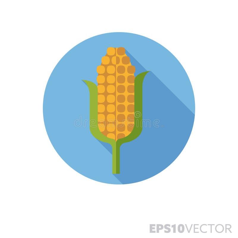 Van de de schaduwkleur van het maïskolf het vlakke ontwerp lange vectorpictogram royalty-vrije illustratie