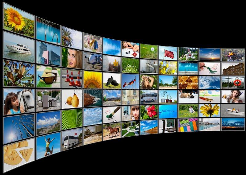 Van de schermen het paneel van verschillende media stock foto's