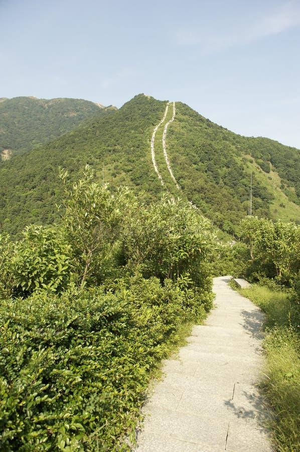 Van de sleepagaist van de berg de blauwe hemel stock fotografie