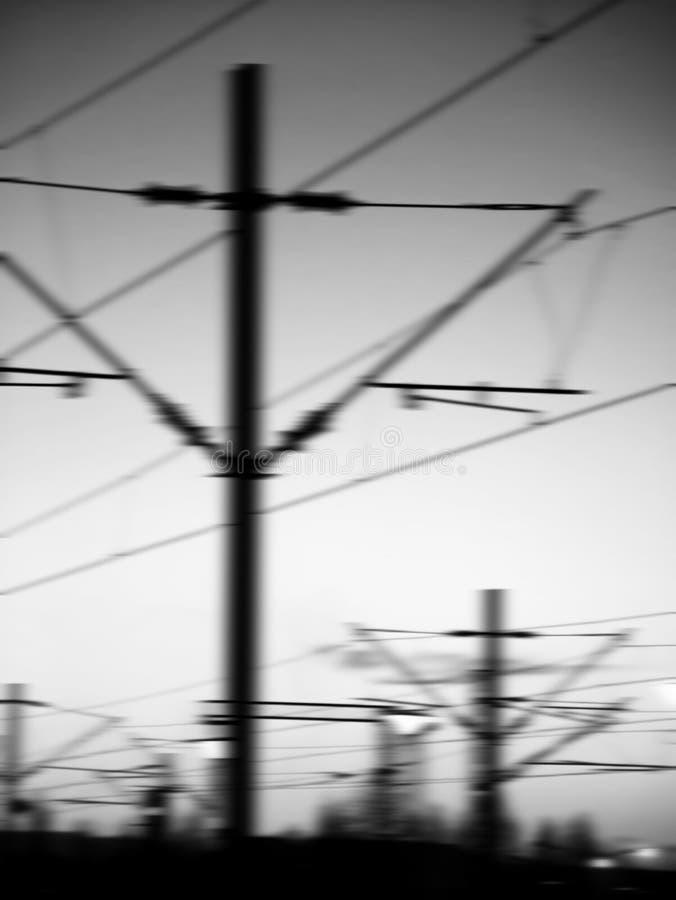 Van de spoorweg (E) de motieachtergrond stock foto