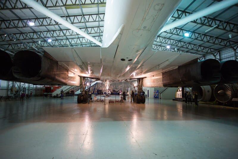 Van de staart van Concorde stock foto's
