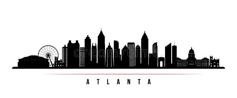 Van de de stadshorizon van Atlanta de horizontale banner royalty-vrije illustratie