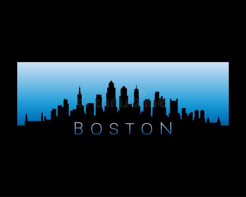 Van de de stadshorizon van Boston de vectorillustratie vector illustratie