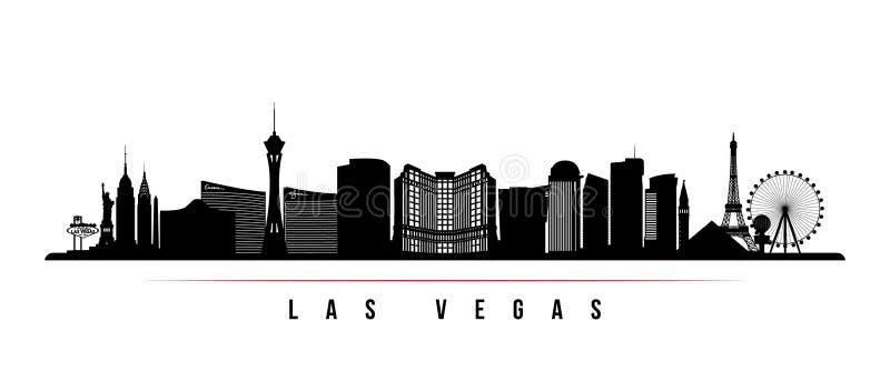 Van de de stadshorizon van Las Vegas de horizontale banner royalty-vrije illustratie