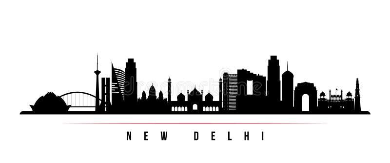 Van de de stadshorizon van New Delhi de horizontale banner royalty-vrije illustratie