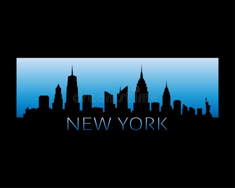 Van de de Stadshorizon van New York de vectorillustratie stock illustratie
