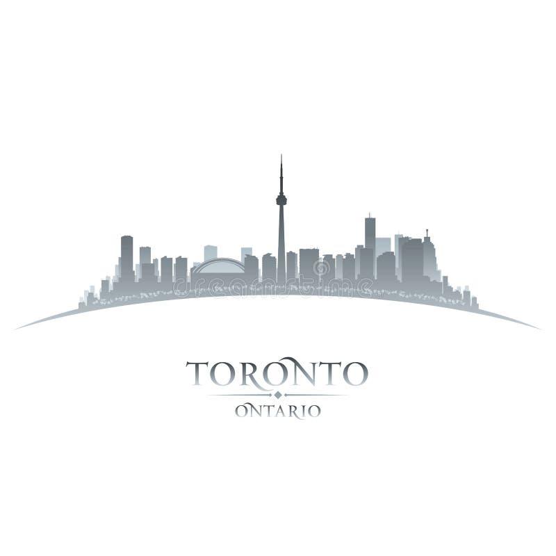 Van de de stadshorizon van Toronto Ontario Canada het silhouet witte achtergrond stock illustratie