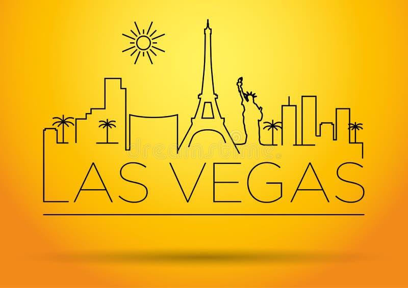 Van de de Stadslijn van Las Vegas het Silhouet Typografisch Ontwerp stock illustratie