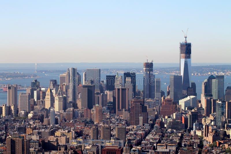 Van de Stadsmanhattan van New York van de het Imperiumstaat de bouwmening, de stad van New York, de V.S., Amerika stock foto's