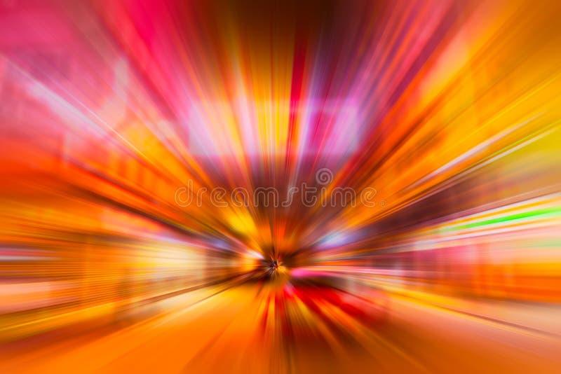 Van de de stadsstraat van China van het onduidelijk beeldrode licht de kleurrijke samenvatting vector illustratie