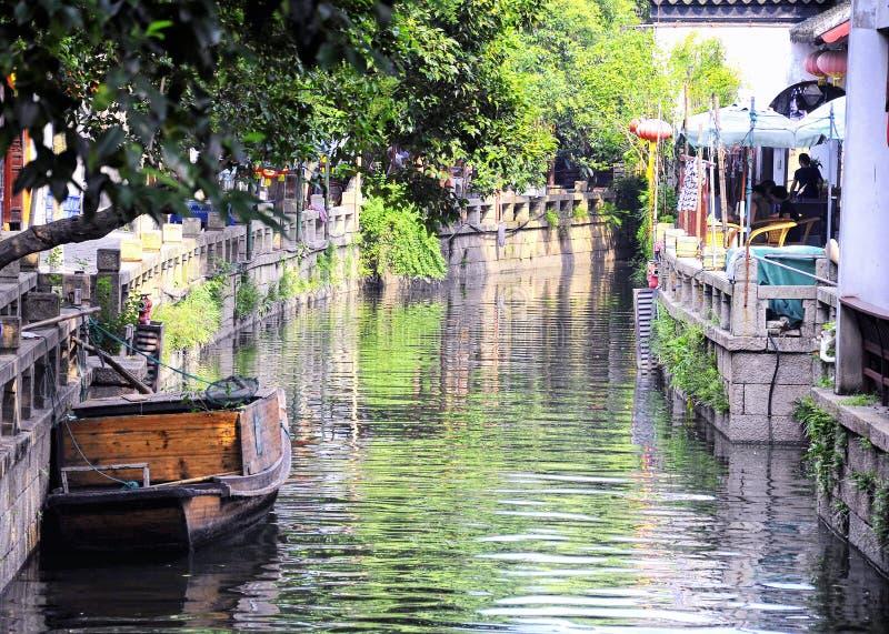 Van de de stadstoerist van het Tongliwater de boot China stock foto's