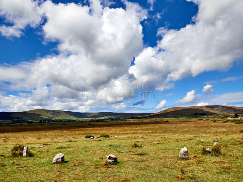 Van de de Steencirkel van Gorsfawr de Heuvels van Preseli stock fotografie