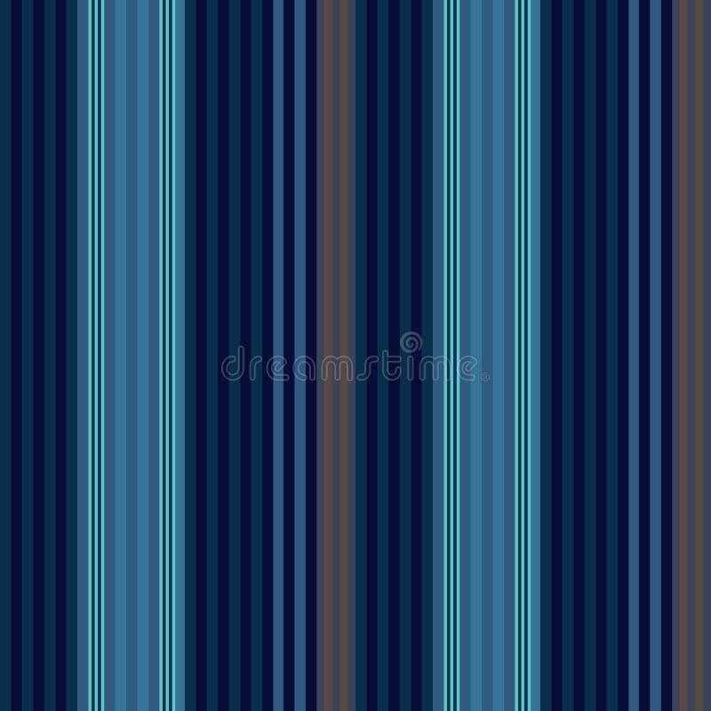 Van de stijl naadloos strepen van de stoffen Retro UITSTEKEND blauw Kleur patroon v vector illustratie