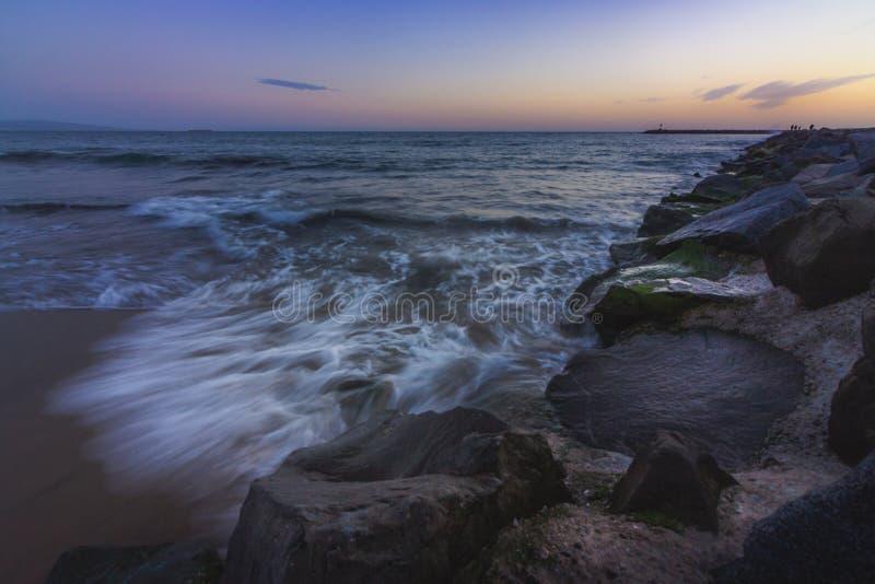 Van de Strandtenen Zonsondergang stock foto