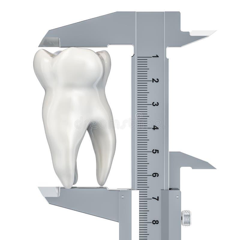 Van de tanddiagnose en behandeling concept, het 3D teruggeven royalty-vrije illustratie