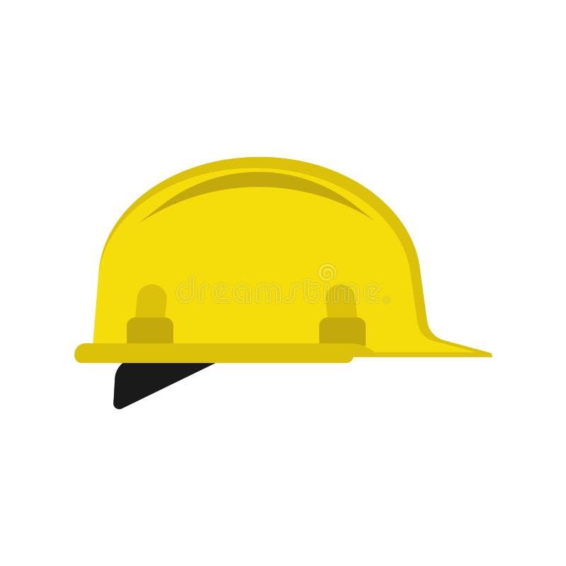 Van de de techniekbouw van bouwvakker vlak unifrom de reparatie vectorpictogram Geel het symbool plastic hulpmiddel van het veili royalty-vrije illustratie