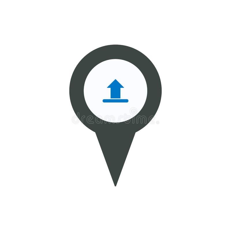 Van de de tellersspeld van de pijlplaats de de plaatswijzer uploadt pictogram vector illustratie