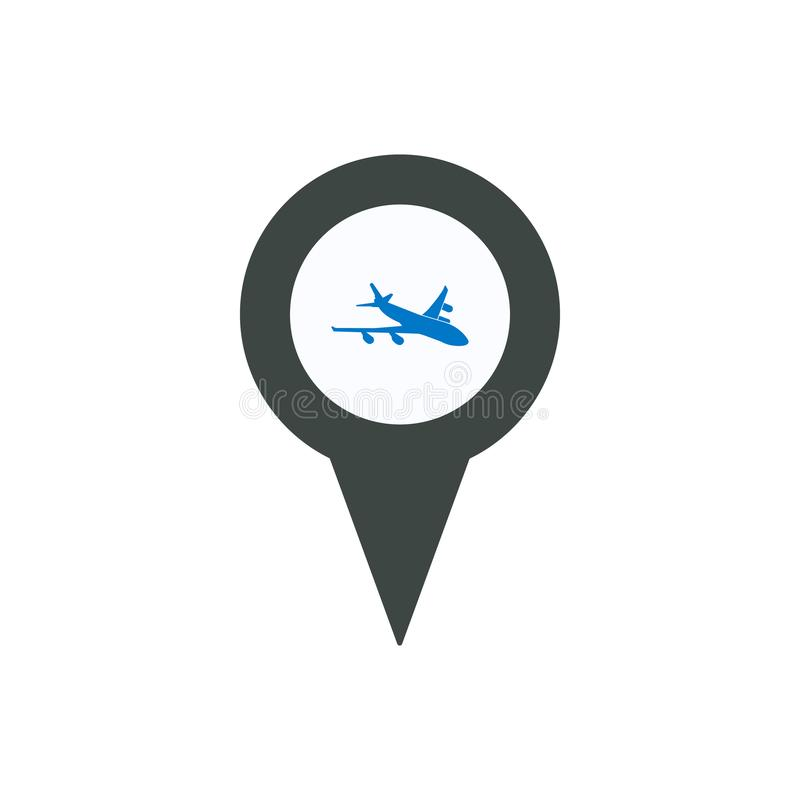 Van de de tellersspeld van de vliegtuigen airplan plaats de plaatspositie stock illustratie