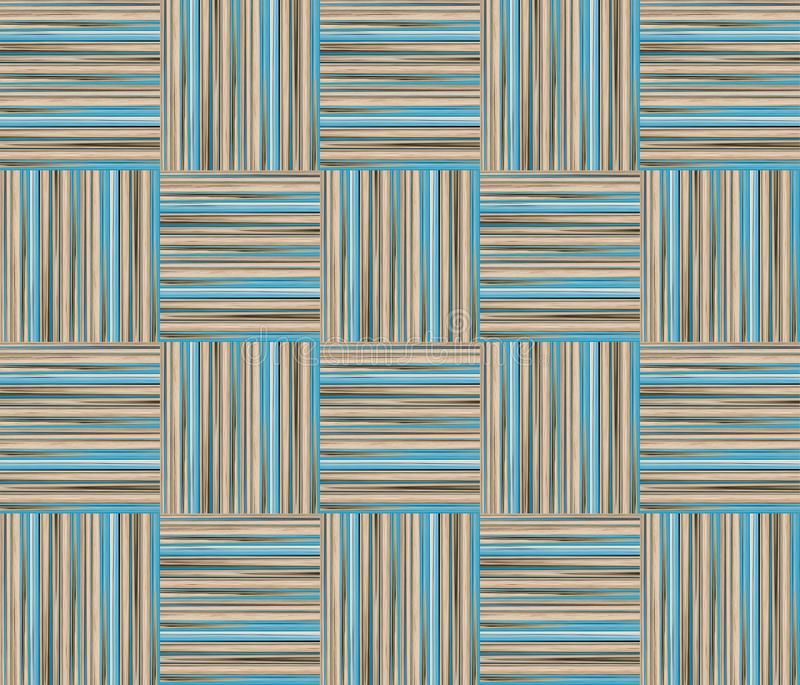 Van de de textuurpastelkleur van het tegelpaneel houten de lijn blauw beige patroon stock illustratie