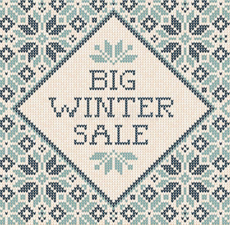Van de de Uitnodigingsvlieger van de winterautumn season frame border poster de Bannerverkoop stock illustratie