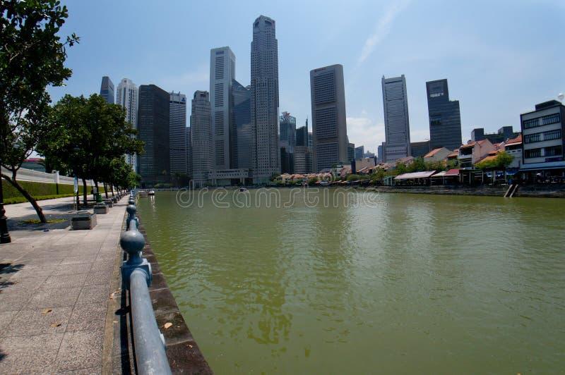 Van de van bedrijfs Singapore horizon de Centrale Districts (CBD) stad royalty-vrije stock foto's