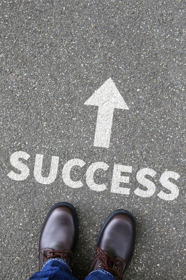 Van de van de bedrijfs succes succesvol carrière het planbegin conceptenleiding stock afbeeldingen