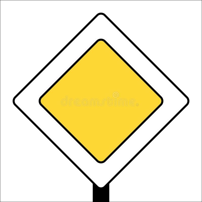van de verkeerstekenhoofdweg witte post als achtergrond royalty-vrije illustratie